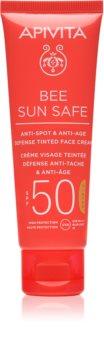 Apivita Bee Sun Safe ochronny krem tonujący do twarzy SPF 50