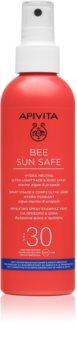 Apivita Bee Sun Safe  schützende Sonnenmilch im Spray SPF 30