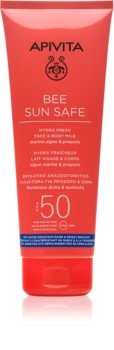 Apivita Bee Sun Safe mleczko do opalania do twarzy i ciała SPF 50