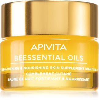 Apivita Beessential Oils нічний бальзам для шкіри для живлення та зволоження