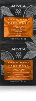 Apivita Express Beauty Orange rozjasňující maska na obličej