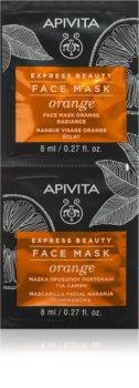 Apivita Express Beauty Orange rozjasňujúca maska na tvár