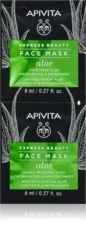 Apivita Express Beauty Aloe orzeźwiający maska nawilżająca do twarzy