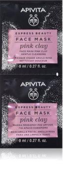 Apivita Express Beauty Pink Clay mascarilla limpiadora para el rostro