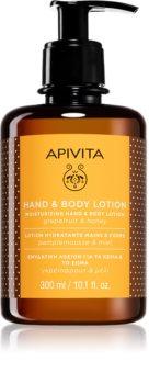 Apivita Hand Care Grapefruit & Honey creme hidratante para mãos e corpo