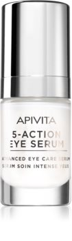 Apivita 5-Action Eye Serum інтенсивна сироватка для шкріри навколо очей