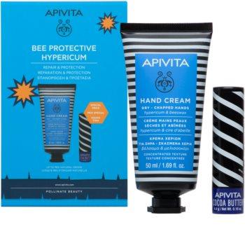 Apivita Bee Protective Hypericum & Beeswax Gavesæt  (med fugtgivende virkning)
