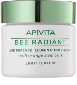 Apivita Bee Radiant Lätt föryngrande kräm  med uppljusande effekt