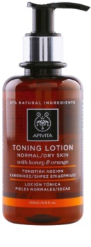 Apivita Cleansing Honey & Orange тоник за нормална и суха кожа