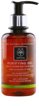 Apivita Cleansing Propolis & Lime gel de limpeza para pele oleosa e mista