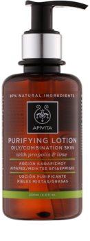 Apivita Cleansing Propolis & Lime почистващ тоник за смесена и мазна кожа