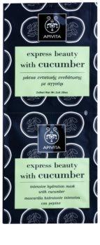 Apivita Express Beauty Cucumber intensive feuchtigkeitsspendende Maske für das Gesicht