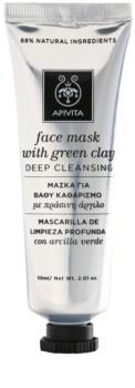 Apivita Express Beauty Green Clay maschera viso di pulizia profonda