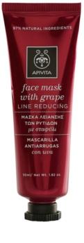 Apivita Express Beauty Grape festigende Maske gegen Falten für das Gesicht
