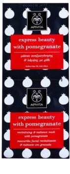 Apivita Express Beauty Pomegranate maschera viso rivitalizzante e illuminante