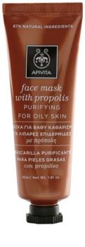 Apivita Express Beauty Propolis máscara de limpeza para pele oleosa