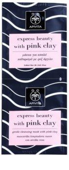 Apivita Express Beauty Pink Clay mascarilla facial limpiadora suave