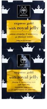Apivita Express Gold Royal Jelly стягаща и регенерираща маска за лице