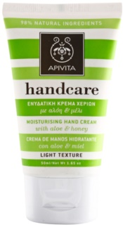 Apivita Hand Care Aloe & Honey crema hidratante ligera  para manos y uñas
