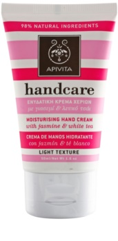 Apivita Hand Care Jasmine & White Tea Lätt fuktighetskräm för händer