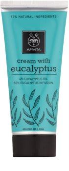 Apivita Herbal Eucalyptus krém pre uvoľnenie bolesti svalov a dýchacích ciest pri nachladnutí