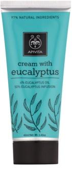 Apivita Herbal Eucalyptus крем за отпускане на мускулни болки и дихателните пътища при настинка