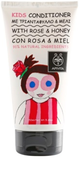 Apivita Kids Rose & Honey condicionador de cabelo para crianças