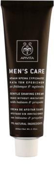 Apivita Men's Care Balsam & Propolis Mild kräm för rakning