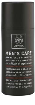 Apivita Men's Care Cedar & Propolis Gel kräm med återfuktande effekt