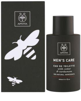 Apivita Men's Care Cedar & Cardamom eau de toilette para hombre 100 ml