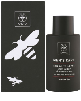 Apivita Men's Care Cedar & Cardamom Eau de Toilette para homens 100 ml