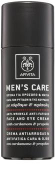 Apivita Men's Care Cardamom & Propolis crema antiarrugas para rostro y ojos