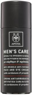 Apivita Men's Care Cardamom & Propolis Kräm mot rynkor  för ansikte och ögon