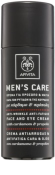 Apivita Men's Care Cardamom & Propolis крем против бръчки за лице и очи
