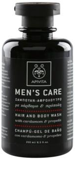 Apivita Men's Care Cardamom & Propolis šampón a sprchový gél 2 v 1