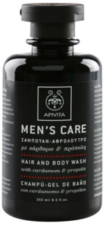 Apivita Men's Care Cardamom & Propolis Shampoo en Douchegel 2in1