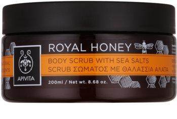 Apivita Royal Honey peeling corporal  com sal marinho