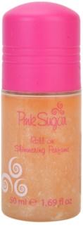 Aquolina Pink Sugar desodorizante roll-on com glitter  para mulheres