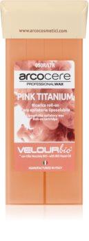 Arcocere Professional Wax Pink Titanium gyanta szőrtelenítéshez roll-on