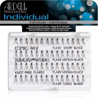 Ardell Individuals Combo Pack αυτοκόλητες βλεφαρίδες σε τουφάκια χωρίς κόμπο