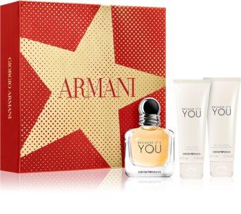 Armani Emporio Because It's You set cadou III. pentru femei