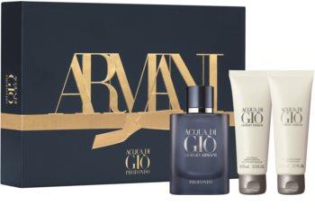 Armani Acqua di Giò Profondo подаръчен комплект lI. за мъже