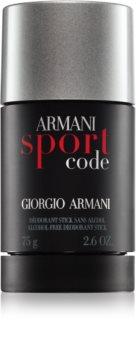 Armani Code Sport desodorizante em stick para homens