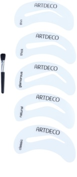 Artdeco Eye Brow Stencil with Brush Applicator Eyebrow Brush with Stencils