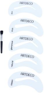 Artdeco Eye Brow Stencil with Brush Applicator kist za obrve sa šablonama