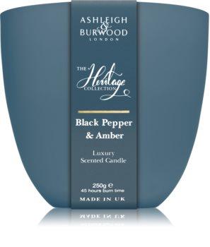 Ashleigh & Burwood London The Heritage Collection Black Pepper & Amber illatos gyertya