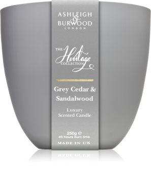 Ashleigh & Burwood London The Heritage Collection Grey Cedar & Sandalwood scented candle