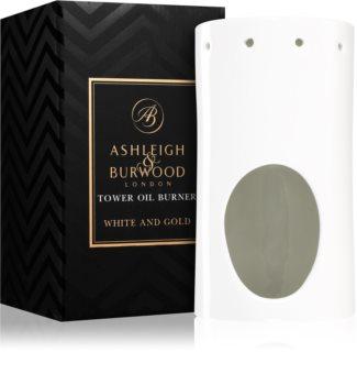 Ashleigh & Burwood London White and Gold Keraaminen Aromilamppu