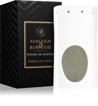 Ashleigh & Burwood London White and Gold keramisk aromlampa
