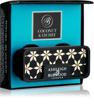 Ashleigh & Burwood London Car Coconut & Lychee ambientador auto clip